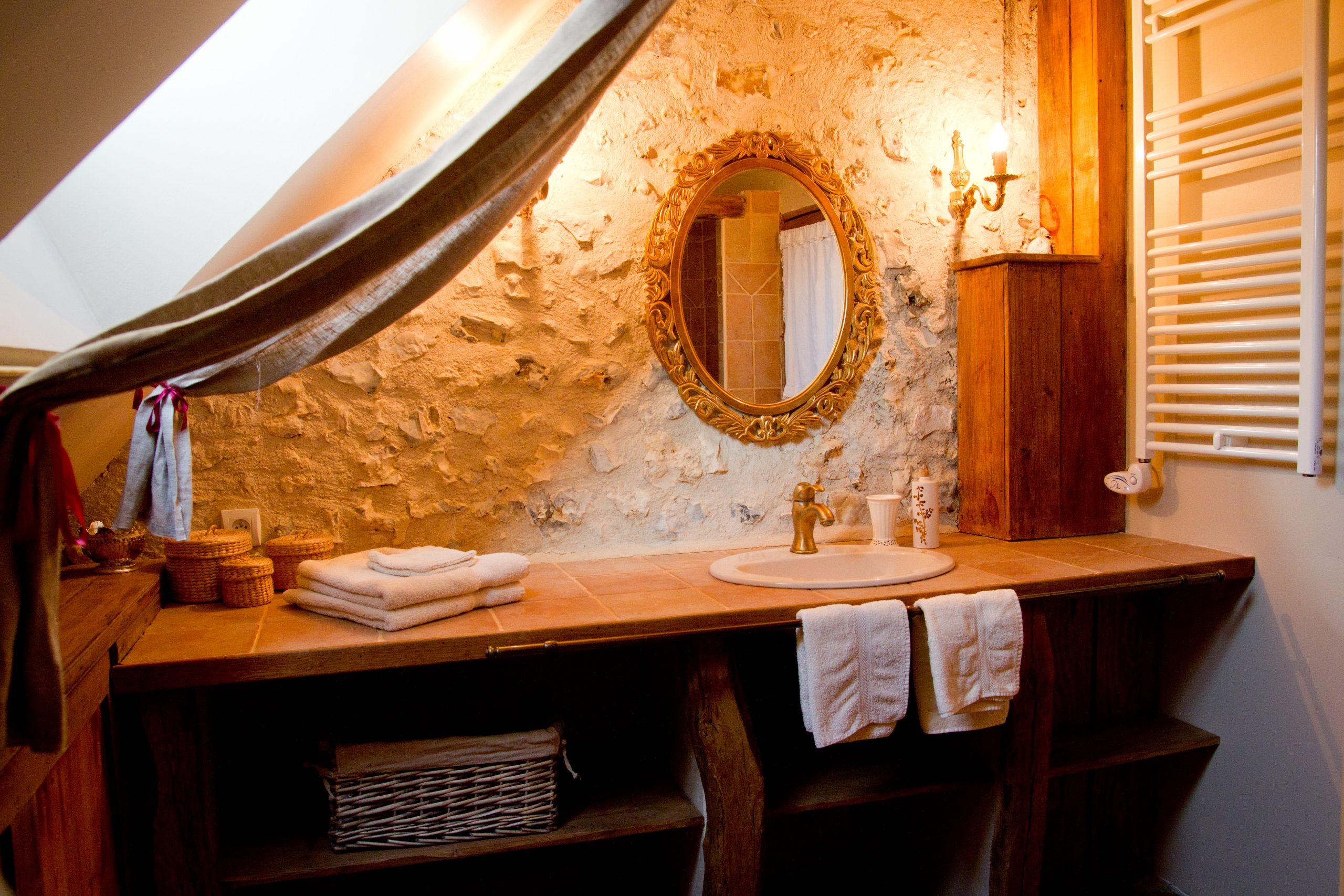 Salle de bain chambres d'hôtes Ferme des Ruelles